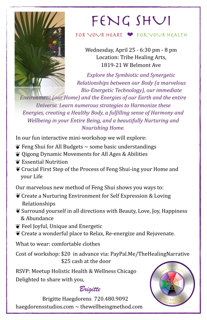 Feng Shui workshop April 25 2018- flyer