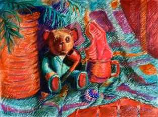 Art gallery - Bear - pastels