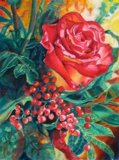 Art gallery - flowers close-up - pastels