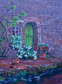 Brugge - door and duck - pastels- IMG_3711 copy