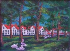 Swans in Begijnhof- IMG_3799
