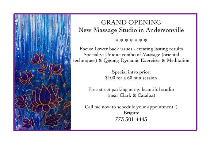 Grand opening flyer massage