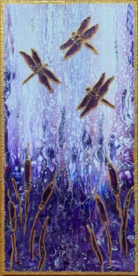Paint pouring dragonflies - small size -IMG_3281