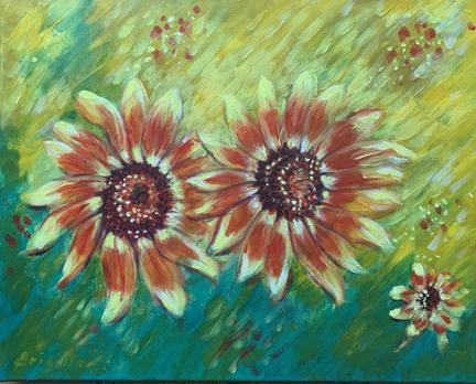 Sunflowers - companionship - small size IMG_3413